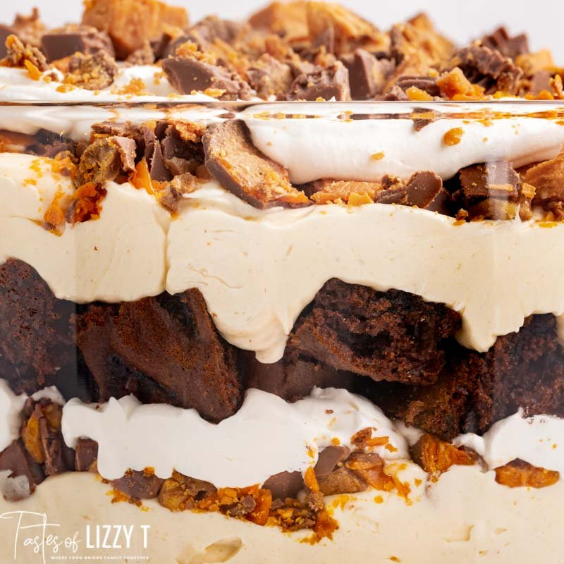 closeup of reese's trifle