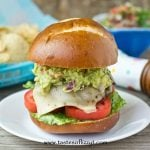 Mexican Guacamole Burger with cheese and guacamole