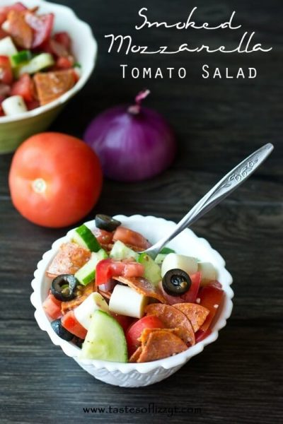 Smoked Mozzarella Tomato Salad