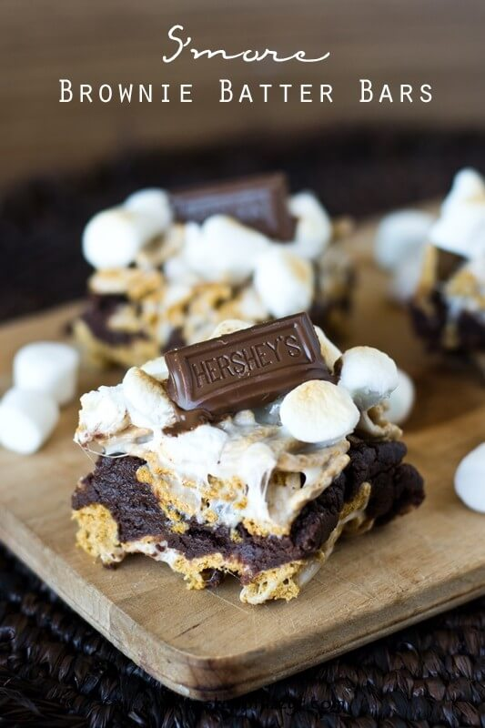 S'more Brownie Batter Bars {Layered Chocolate Marshmallow ...