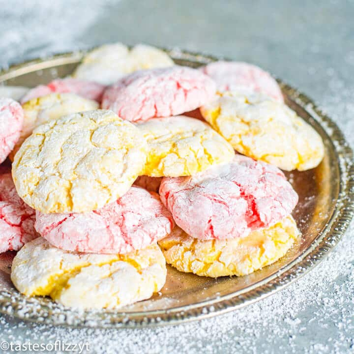 plate of cool whip cookies