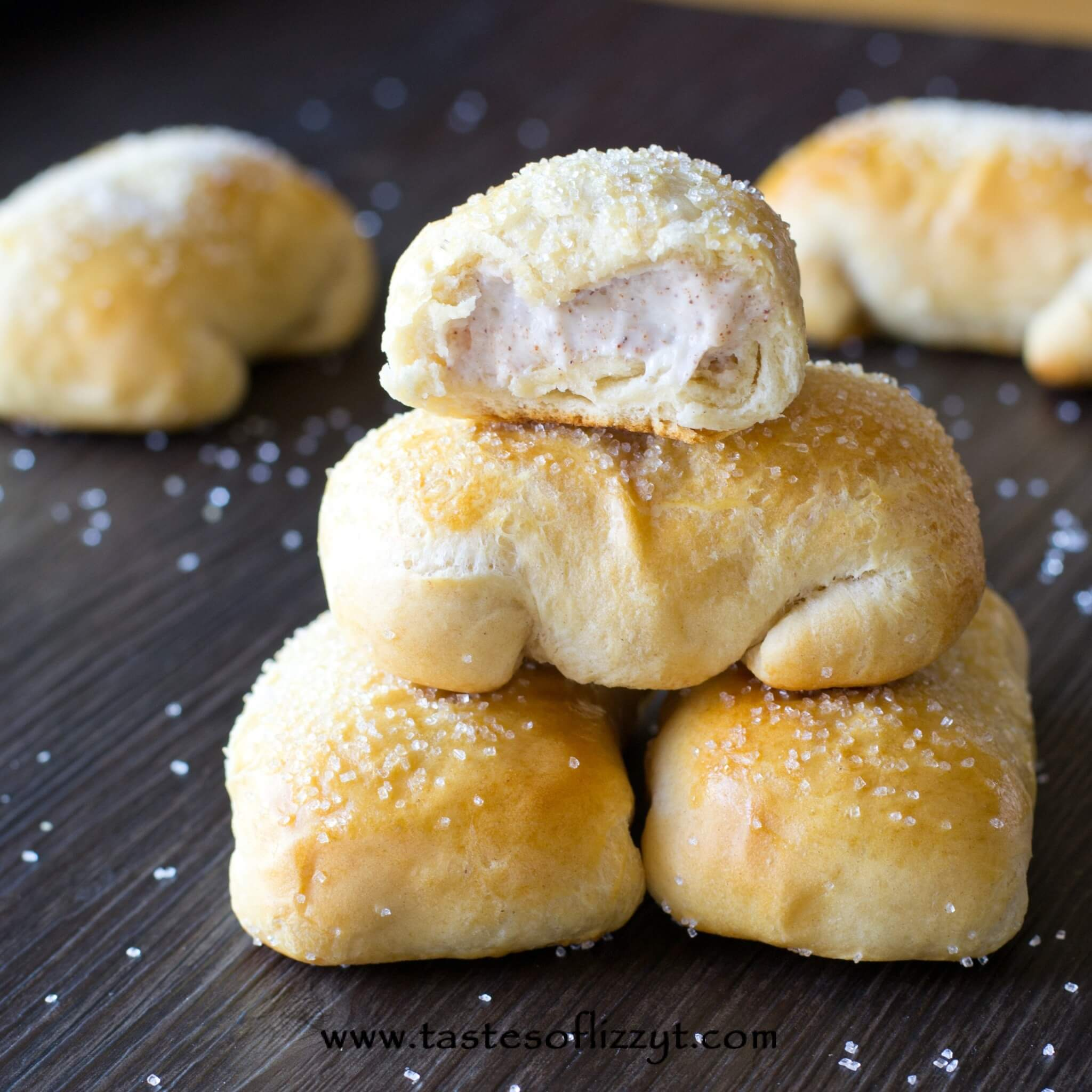These Cinnamon Cream Cheese Pastry Puffs are our copycat version of McDonalds petite breakfast pastries. Make the simply with Pillsbury biscuit dough!