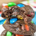 double chocolate M&M cookies {easy cookie recipe}