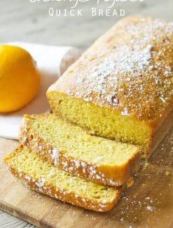 Orange Yogurt Quick Bread {Sweetened with Orange Juice and Honey}