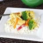 chicken with veggies over rice