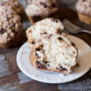 Mega Muffins with homemade cinnamon chips inside.