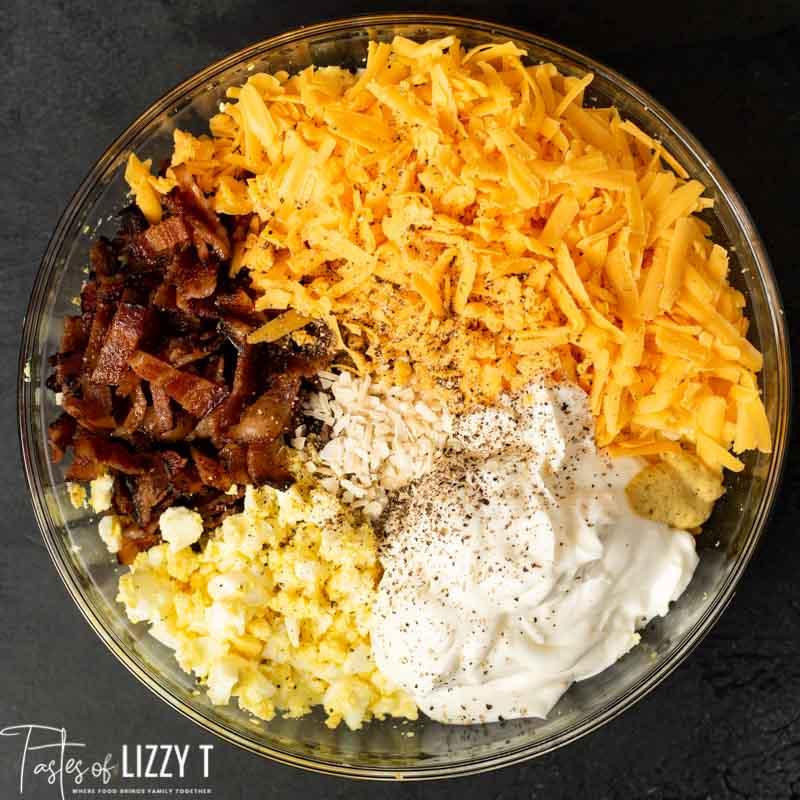 Bacon Cheddar Egg Salad