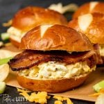 Bacon cheddar Egg Salad with bacon