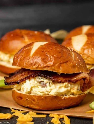 Bacon cheddar Egg Salad sandiwch
