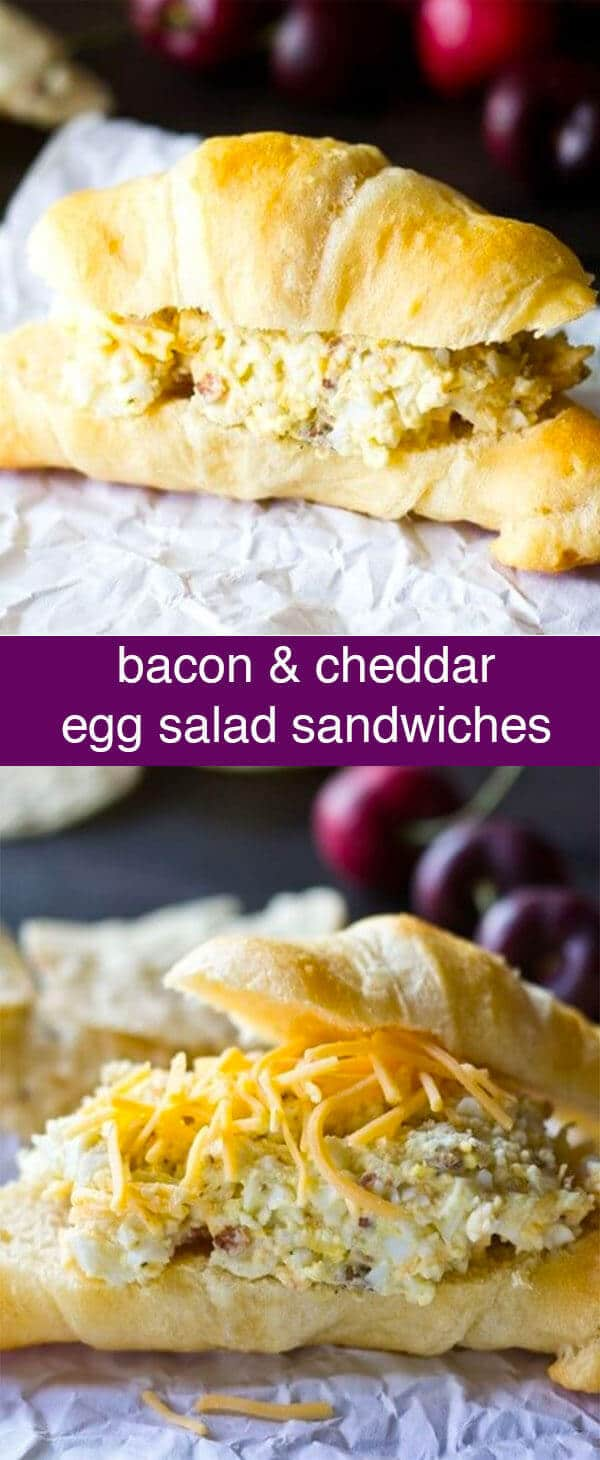 Bacon makes everything better, right? Jazz up your lunch with these savory Bacon & Cheddar Egg Salad Sandwiches.