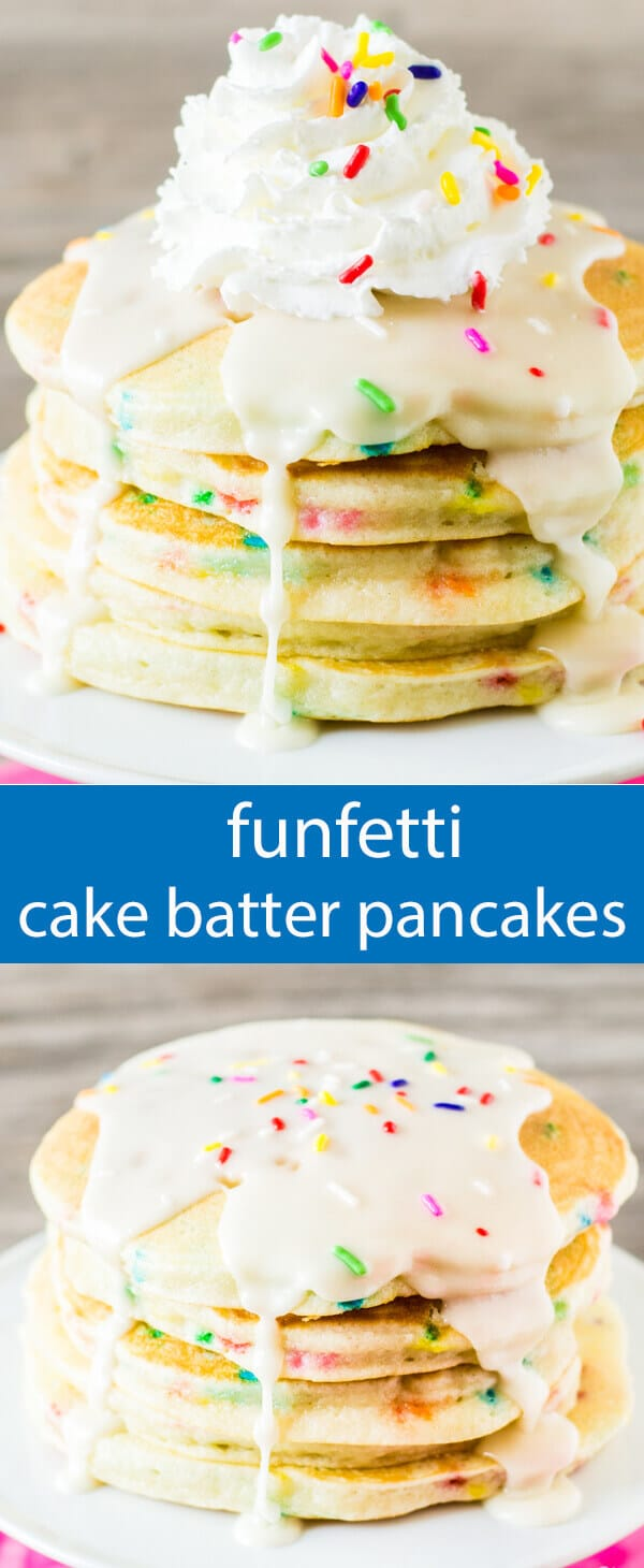 Funfetti Pancakes Easy Cake Batter Pancakes Perfect for Birthdays