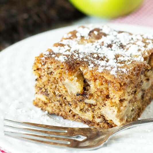 Apple Walnut Cake on a plate
