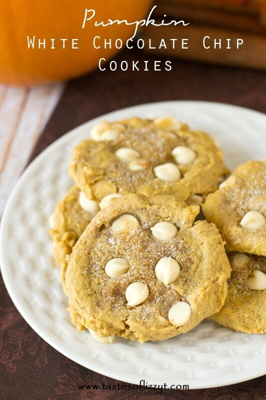 White Chocolate Chip Pumpkin Cookies