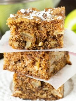 slices of apple walnut cake