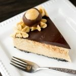 Peanut Butter Buckeye Cheesecake