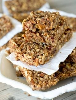 stack of nut energy bars