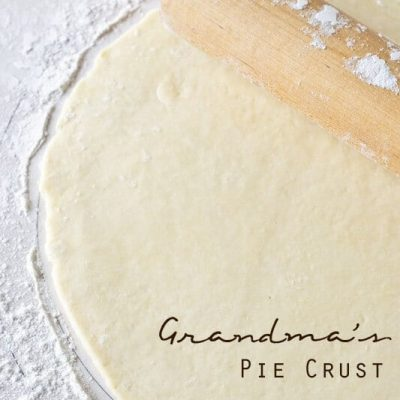 Learn how to make a pie crust the way Grandma did. Grandma's Pie Crust is buttery, flaky, and takes just a few minutes to make. It's our family favorite!