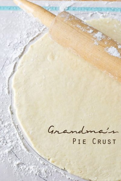 Grandma's Pie Crust Recipe