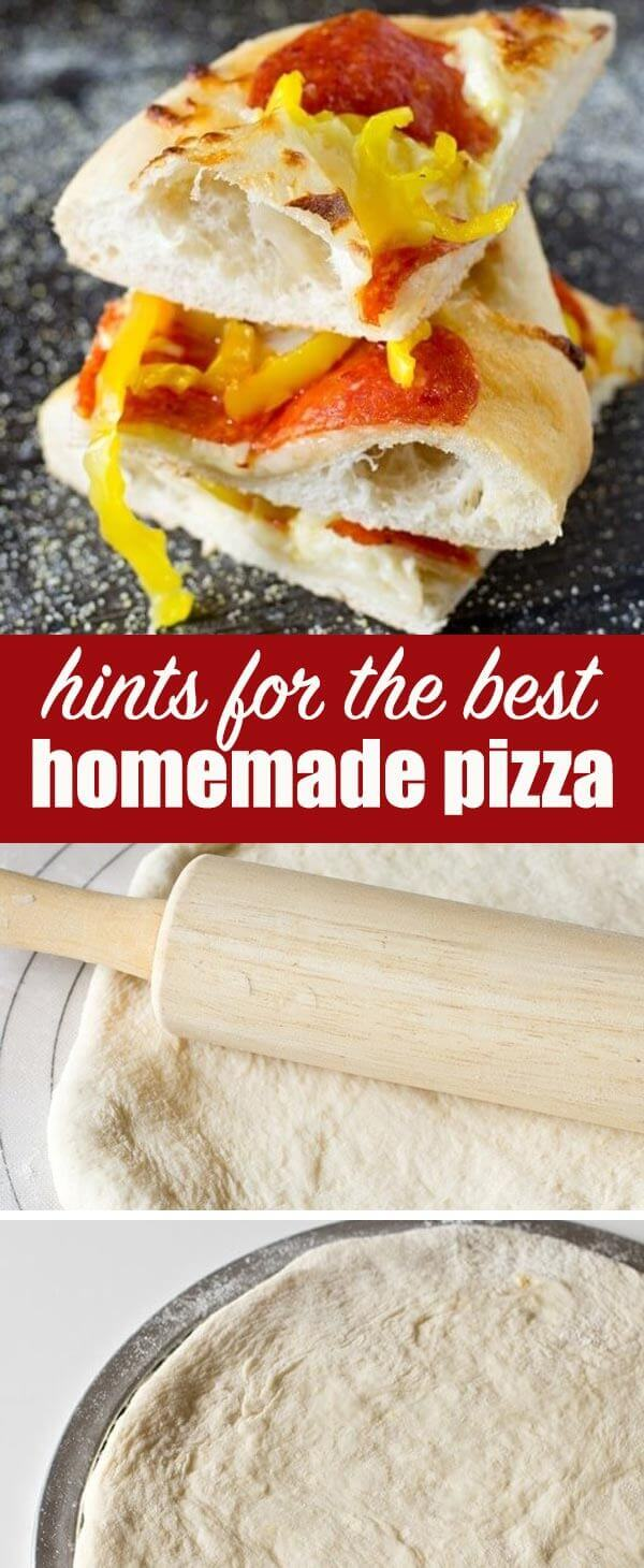 Find out tips and tricks for how to make perfect homemade pizza. We share the best pizza crust recipe and pizza sauce recipe. Homemade Pizza {Hints on the Best Pizza Dough and Sauce Recipes}
