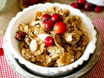 This Brown Sugar Oatmeal Granola is one of our favorite breakfasts. Serve in a bowl with milk or just eat it by the handful for an on-the-go breakfast.