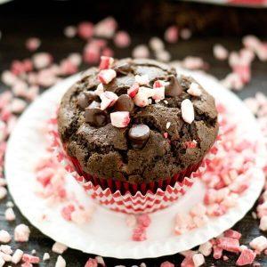Peppermint Mocha Coffee Muffins {Christmas Chocolate Muffin Recipe}