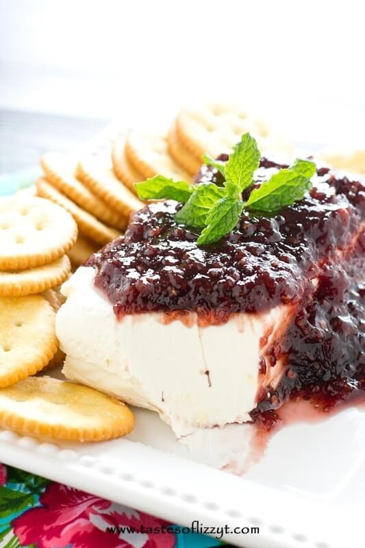 Raspberry Cream Cheese Dip - Tastes of Lizzy T