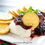 raspberry jalapeno jelly and cream cheese appetizer