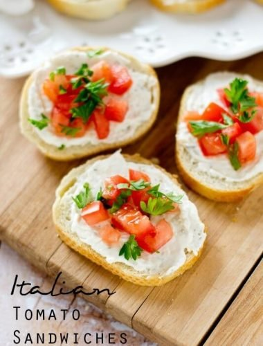 Italian Tomato Sandwiches recipe - Tastes of Lizzy T