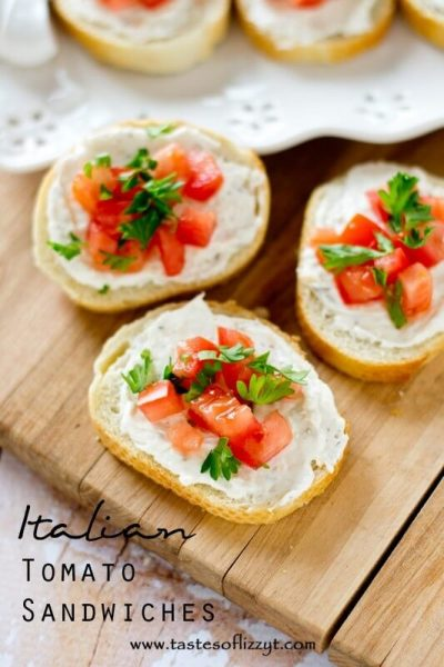 Italian Tomato Sandwiches