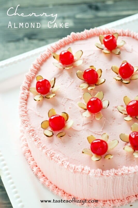 almond and cherry flavored buttercream. Top this cherry almond cake ...
