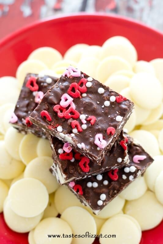 Triple Chocolate Crunch Bars - Tastes of Lizzy T