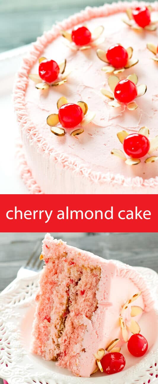Cherry Almond Cake From Scratch Recipe Maraschino Flowers