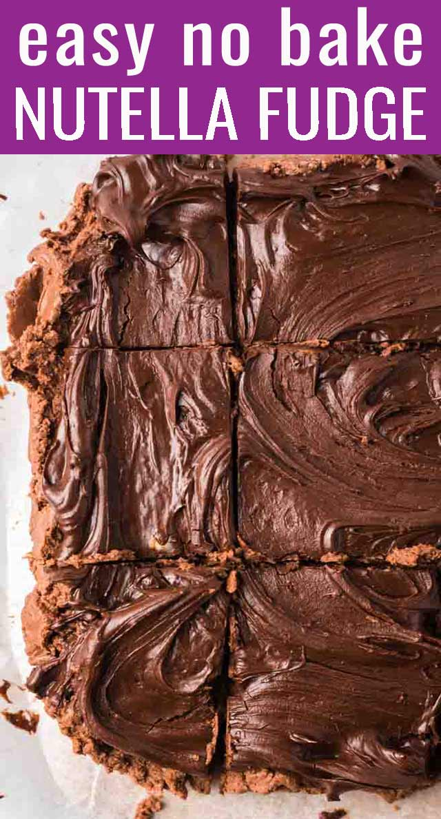 If you love chocolate, this No Bake Nutella Fudge will be your new best friend. Just 5 ingredients, ready in under 30 minutes, no baking needed. via @tastesoflizzyt