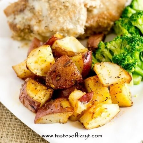 Easy oven roasted potatoes recipe hints for making them golden brown sisterspd