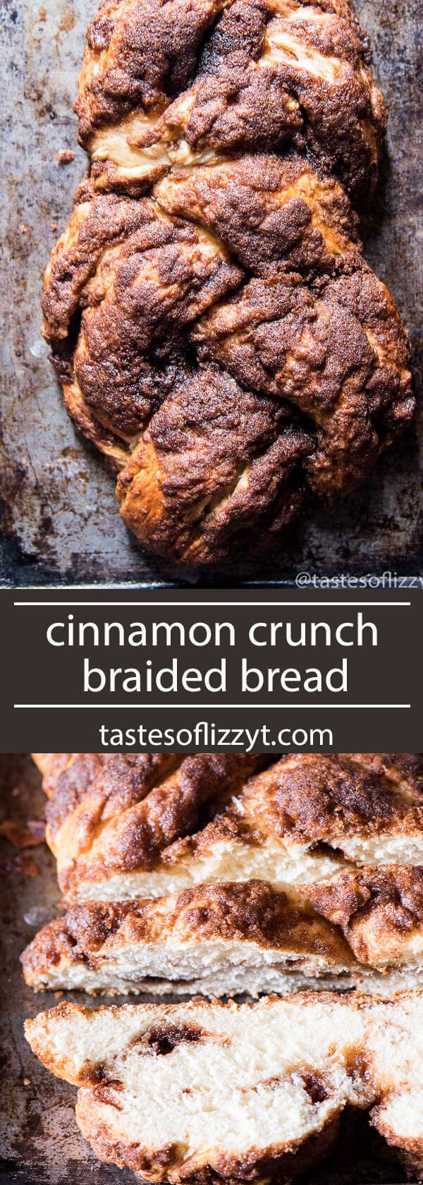 Panera has nothing on this bread recipe! Soft, homemade bread makes up this cinnamon crunch braided bread. Homemade cinnamon chips fill the inside! homemade bread recipe with cinnamon / panera copycat recipe