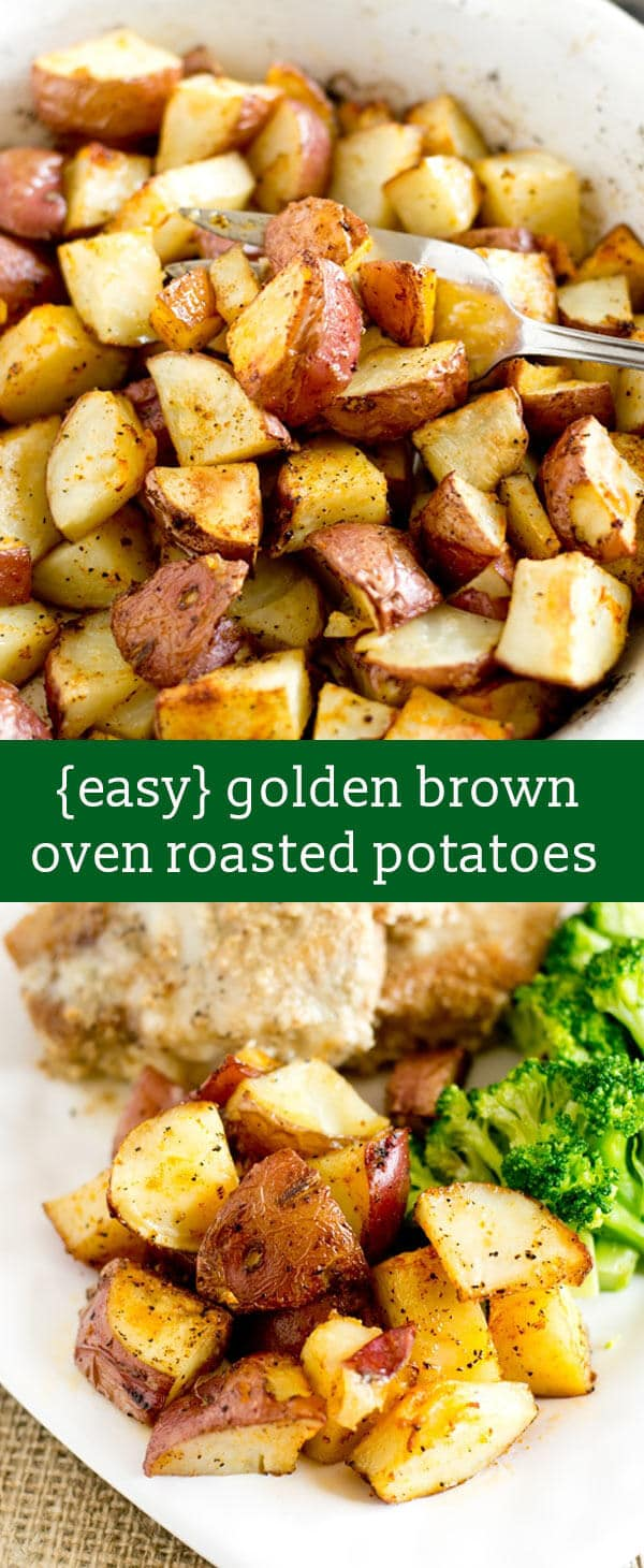 Easy oven roasted potatoes recipe hints for making them golden brown easy oven roasted potatoes recipe hints for golden brown potatoes easy side dish recipe forumfinder Gallery