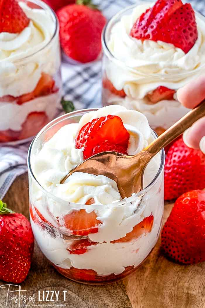 spoon in parfait cup