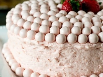 Strawberry Malted Milkshake Cake Recipe - Tastes of Lizzy T