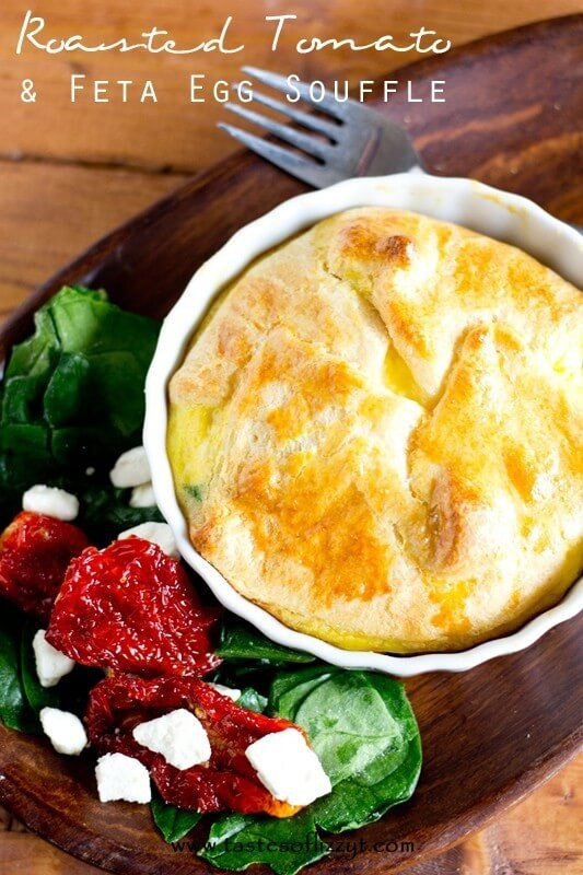 Roasted Tomato & Feta Egg Souffle - Tastes of Lizzy T