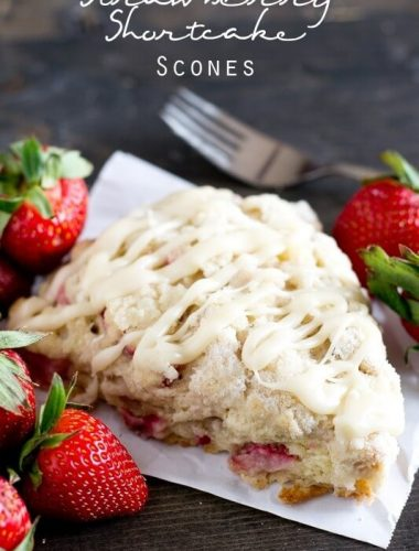 Strawberry Shortcake Scones Recipe - Tastes of Lizzy T