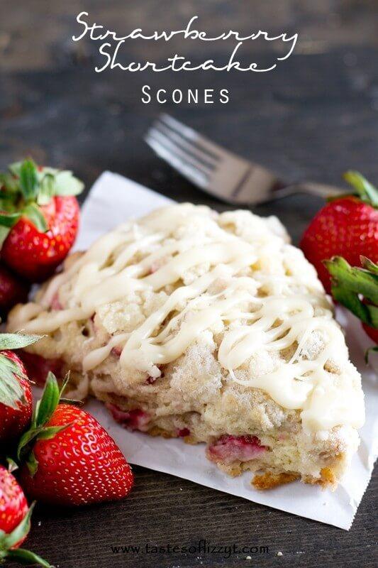 Strawberry Shortcake Scones Recipe - Tastes of Lizzy T