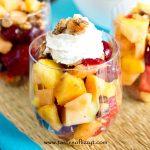 Sugared Walnut Fruit Salad Recipe - Tastes of Lizzy T