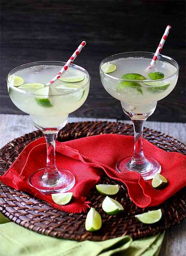 two glasses of ginger lime soda