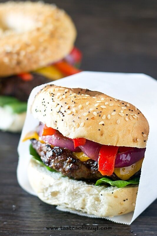 Barbecue pork burger recipe