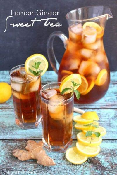 Lemon Ginger Sweet Tea
