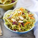 This crunchy Paleo Broccoli Slaw is just the healthy side dish that you've been looking for. It has a tangy homemade dressing and comes together in just minutes.