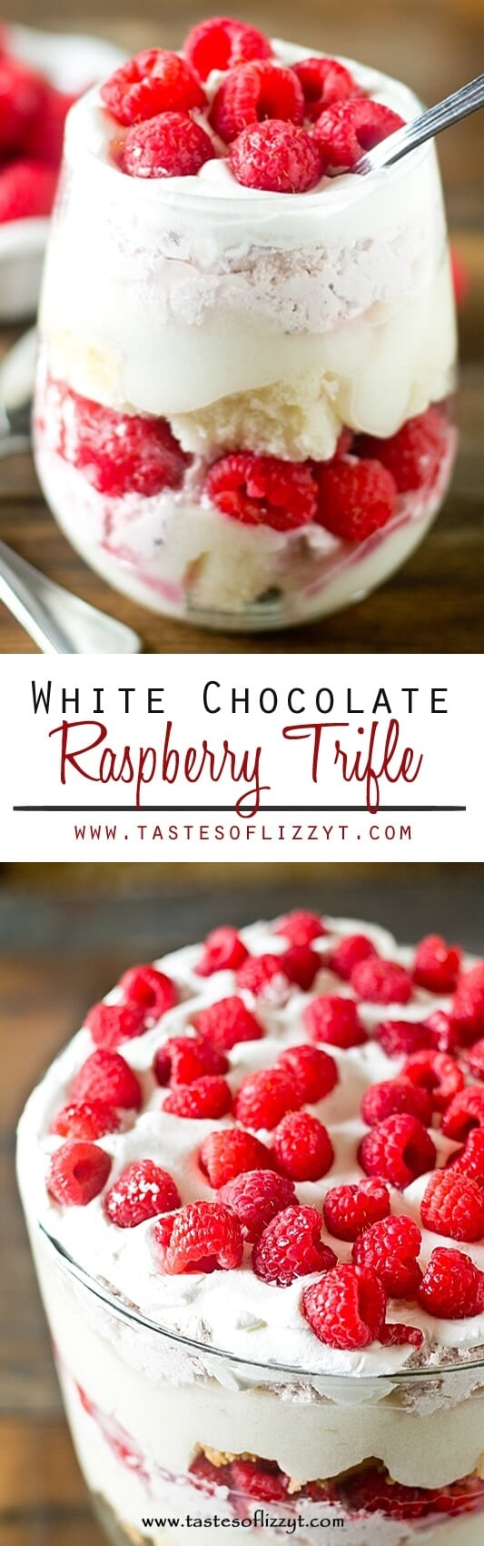 White Chocolate Raspberry Trifle Recipe - Layers of cake, white ...