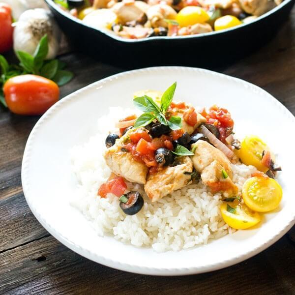 One Skillet Mediterranean Chicken - Tastes of Lizzy T's