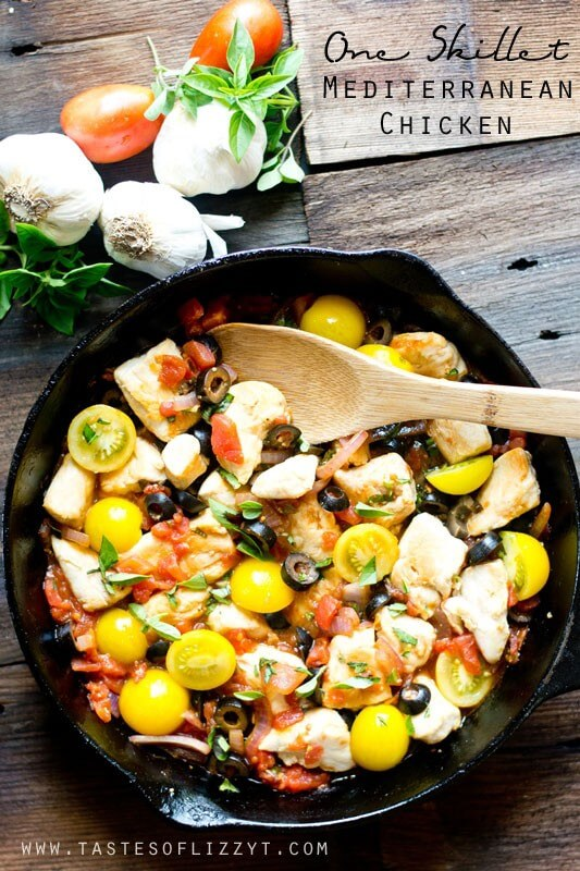Best mediterranean diet dinner recipes like one skillet chicken one skillet mediterranean chicken is a healthy dinner packed with veggies and protein and fresh herbs forumfinder Images