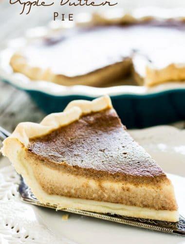 slice of apple butter pie